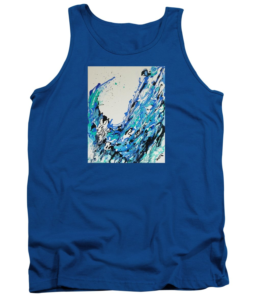 Genesis Tank Top featuring the painting The Third Day by Dan Campbell