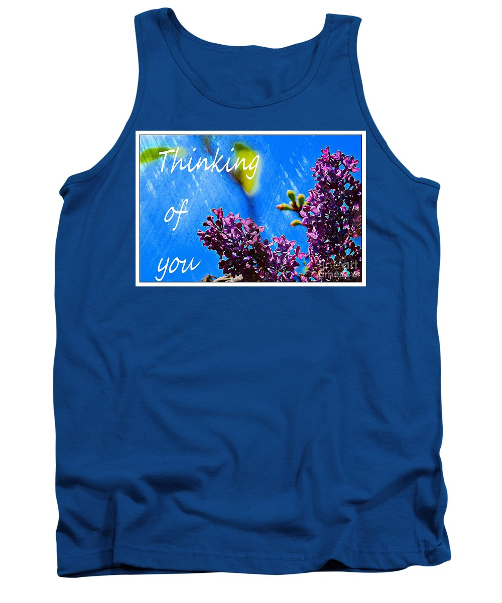 Thinking Of You Tank Top featuring the digital art Thinking Of You 3 by Barbara Griffin