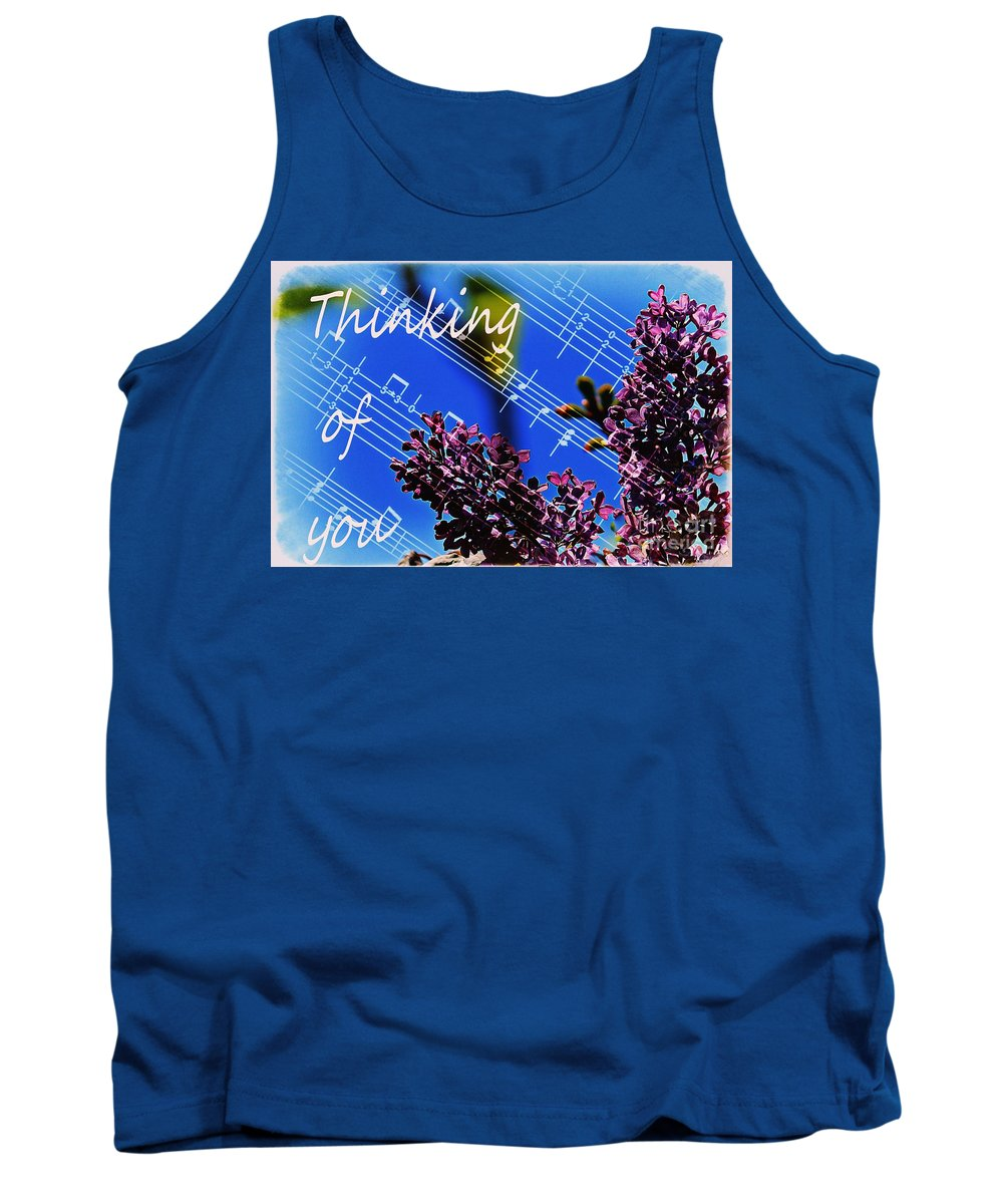 Thinking Of You Tank Top featuring the photograph Thinking Of You - Memories - Music by Barbara Griffin