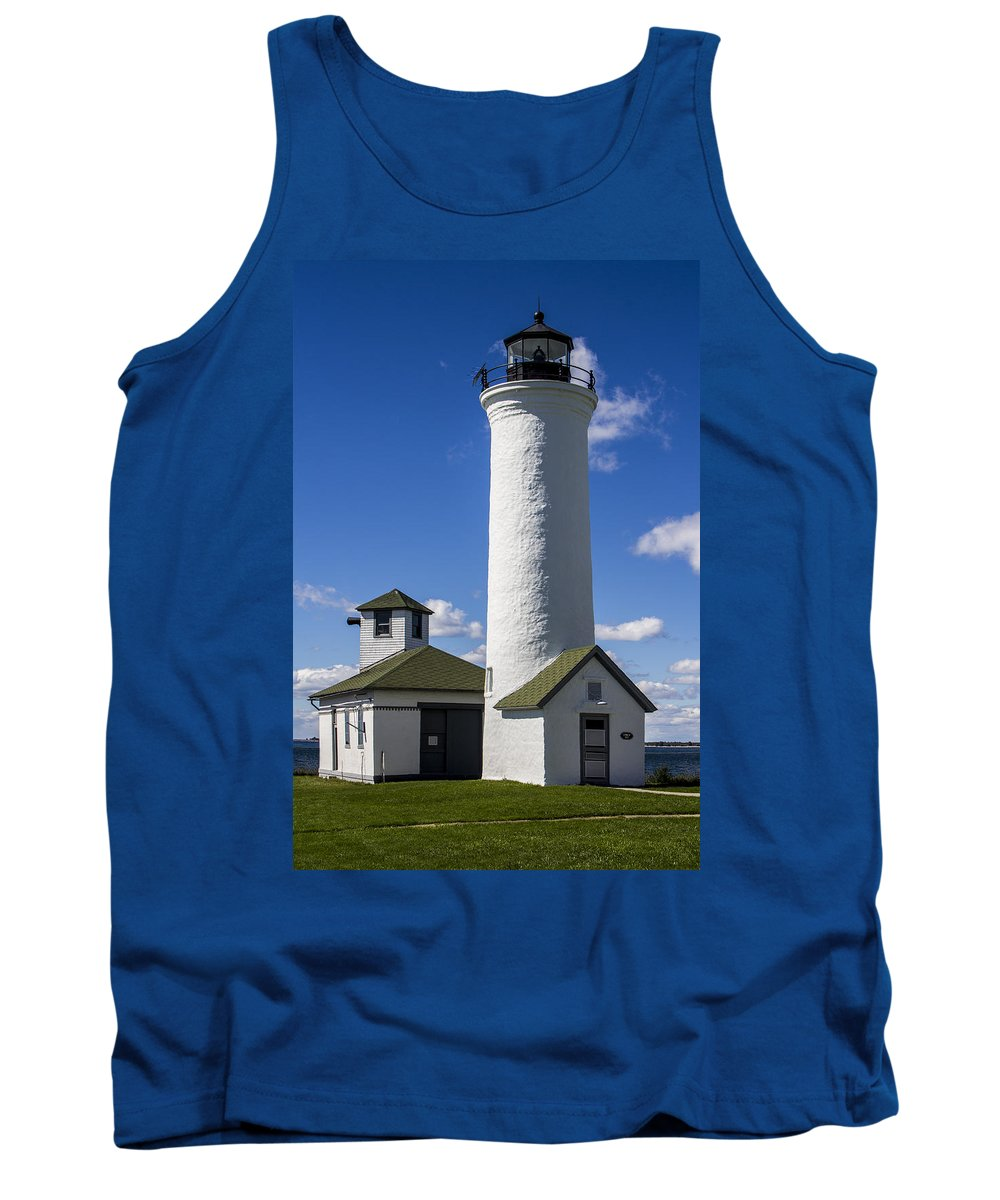 Architecture Tank Top featuring the photograph Tibbetts Point Lighthouse by Ben and Raisa Gertsberg