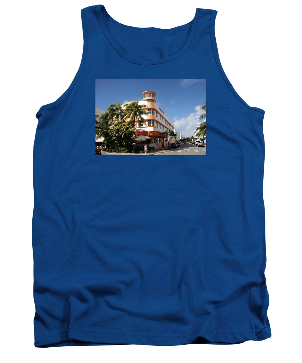 Hotel Tank Top featuring the photograph Towers Hotel - Miami by Christiane Schulze Art And Photography