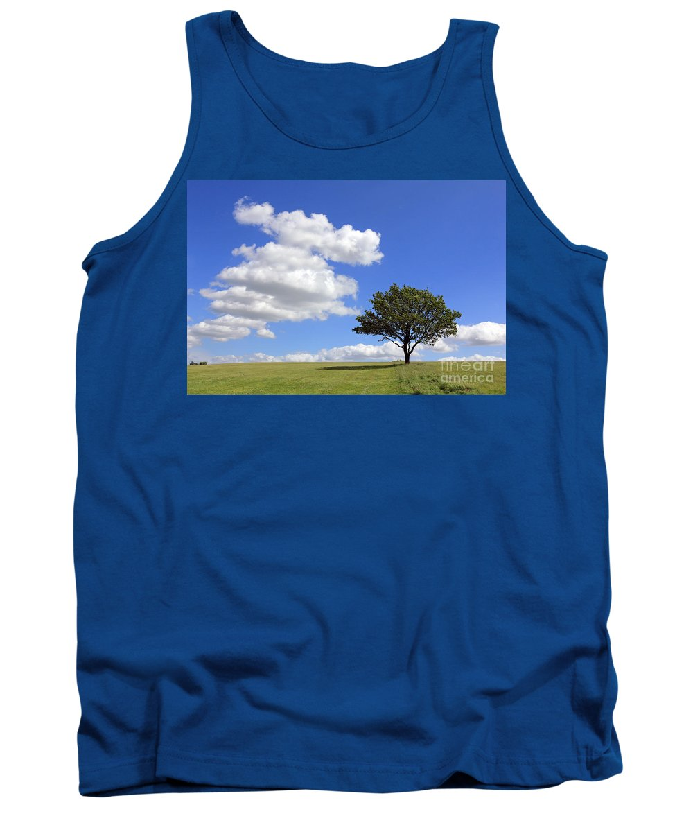 Tree With Clouds Tank Top featuring the photograph Tree With Clouds by Julia Gavin