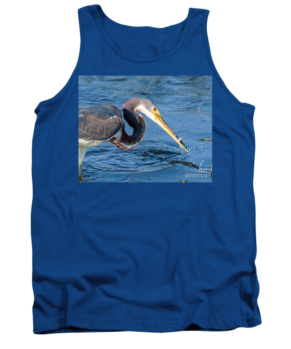 Tri Tank Top featuring the photograph Tri Fish Splash by Photos By Cassandra
