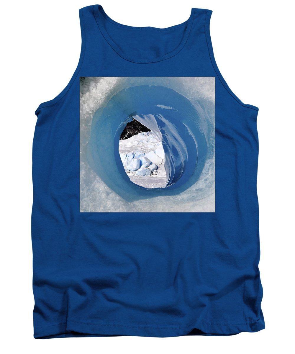 Ice Tank Top featuring the photograph Tunnel Vision by Cathy Mahnke