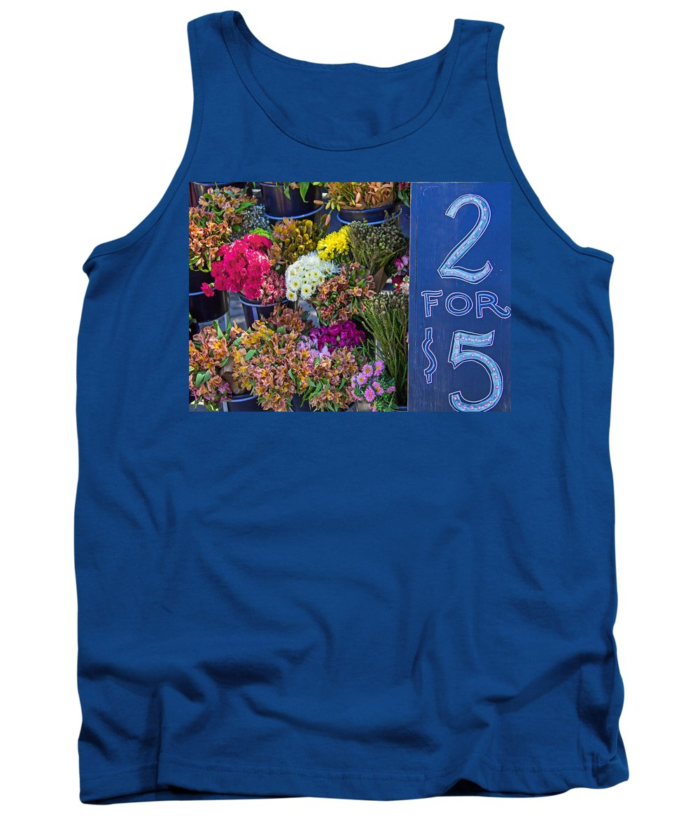 Flowers Tank Top featuring the photograph Two For Five Dollars by Deb Buchanan