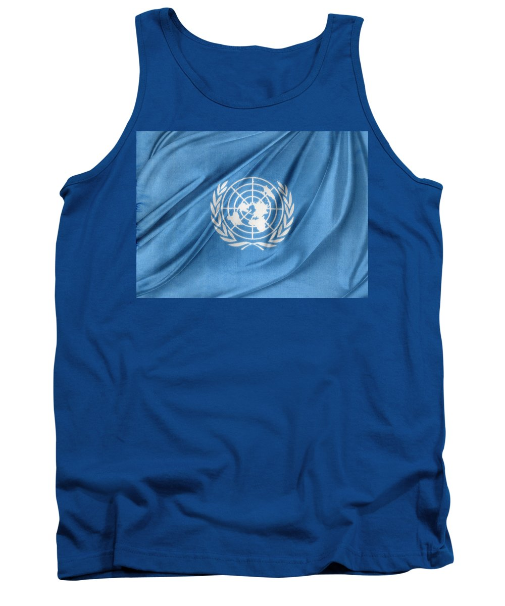 Color Tank Top featuring the photograph United Nations by Les Cunliffe