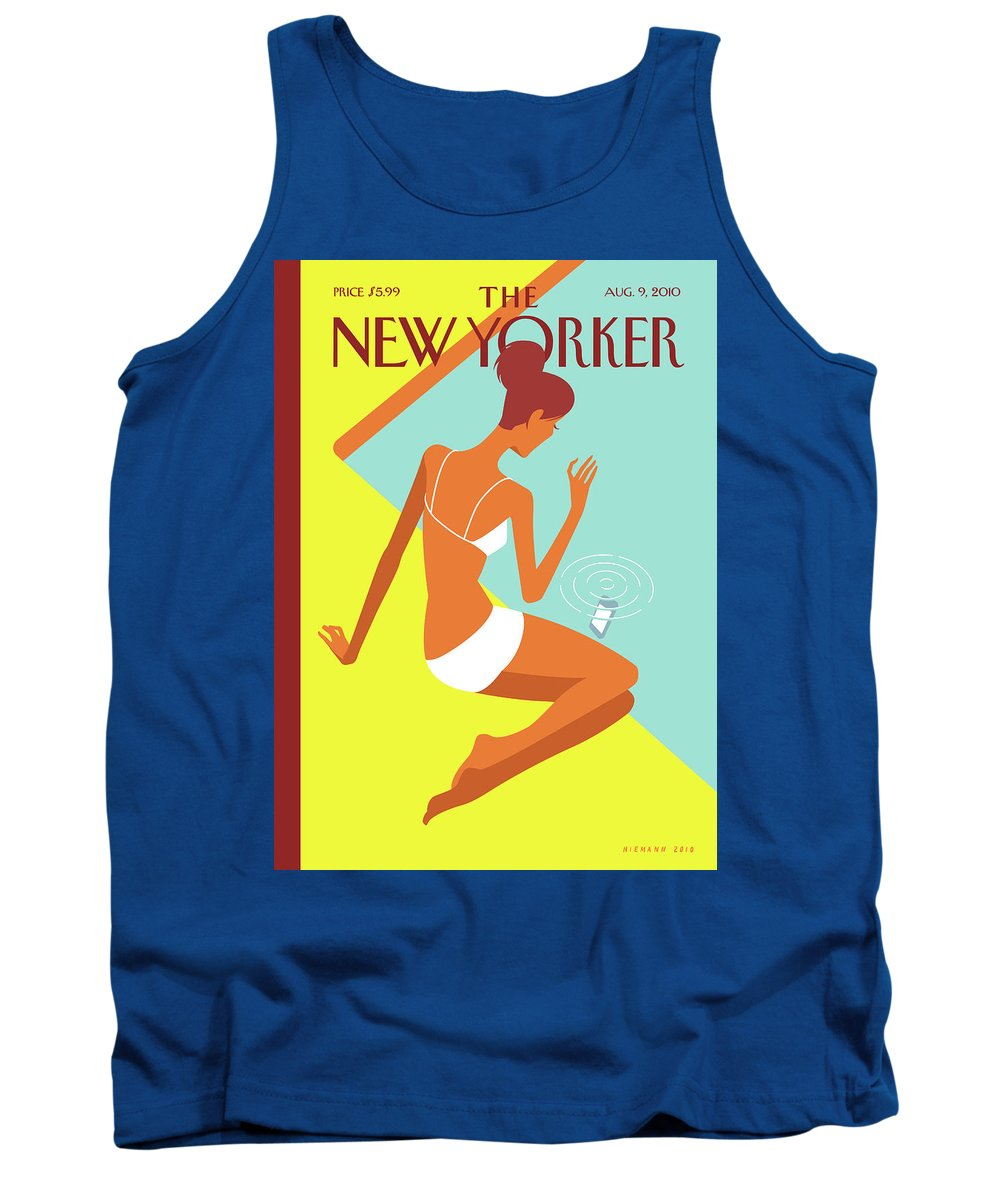 Pool Tank Top featuring the painting New Yorker August 9th, 2010 by Christoph Niemann