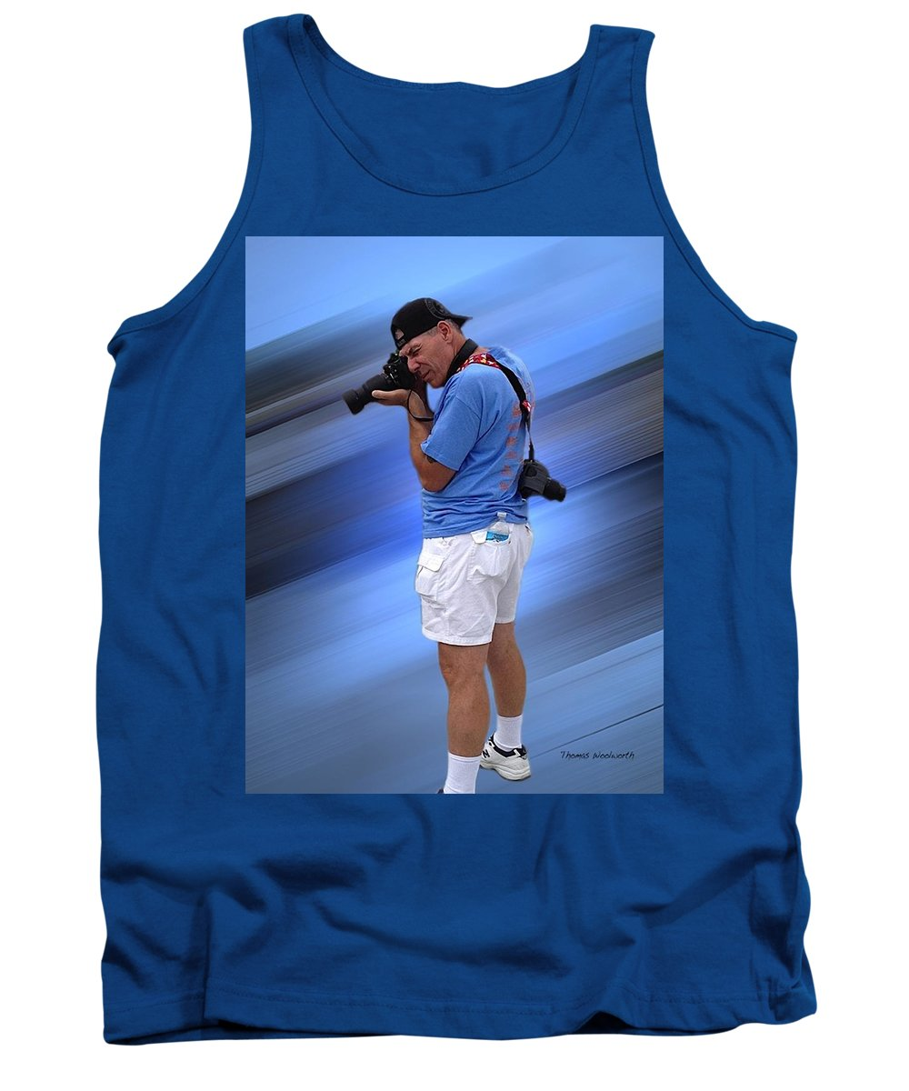 Tom Woolworth Tank Top featuring the photograph Up On The Roof Tops by Thomas Woolworth