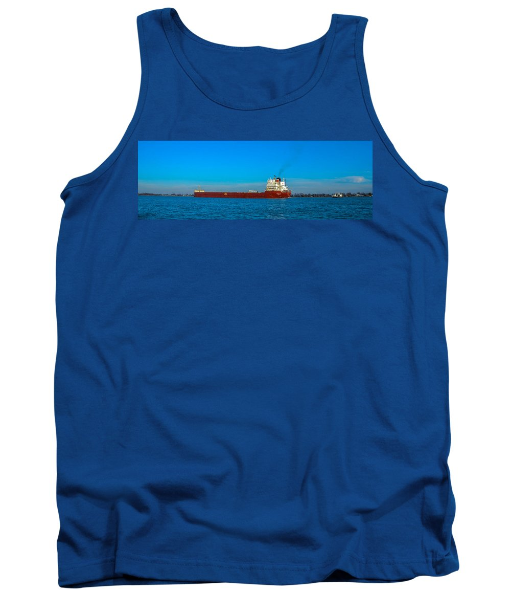 Ships Tank Top featuring the photograph Upbound by Gales Of November