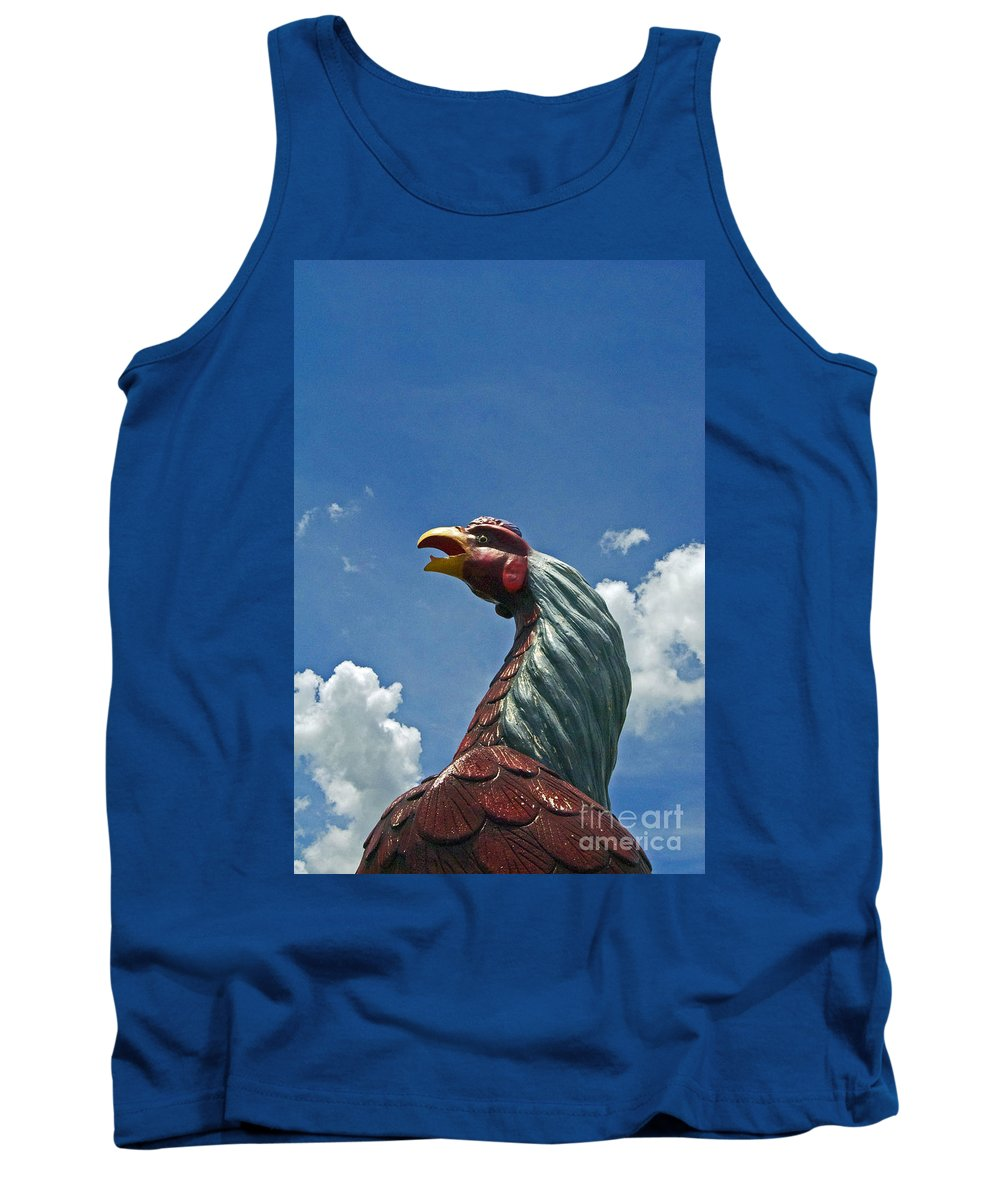 Scenic Tours Tank Top featuring the photograph Usc Gamecock by Skip Willits