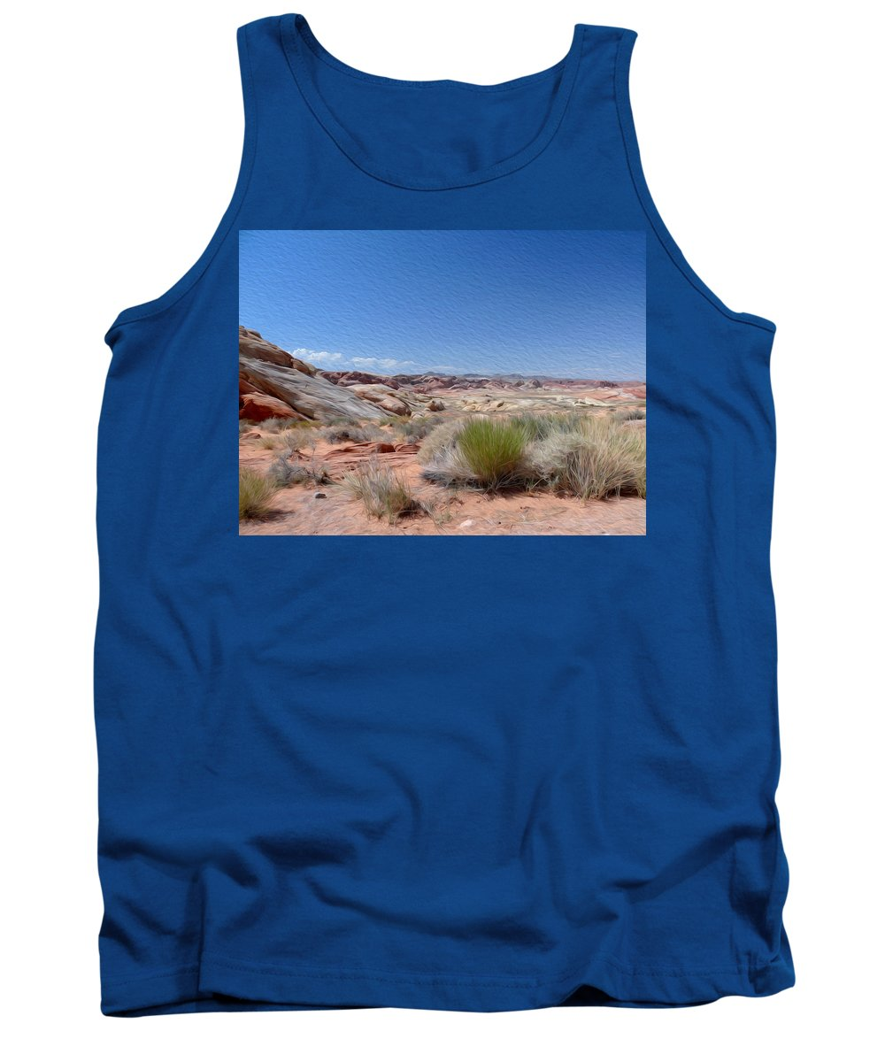 Valley Of Fire State Park Tank Top featuring the photograph Valley Of Fire 1 by Tracy Winter