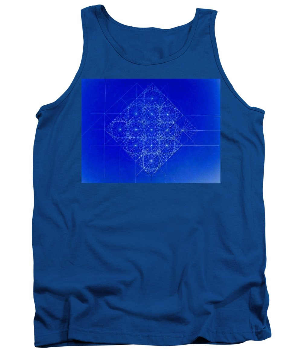 Sine Tank Top featuring the drawing Vibrating Space Time by Jason Padgett