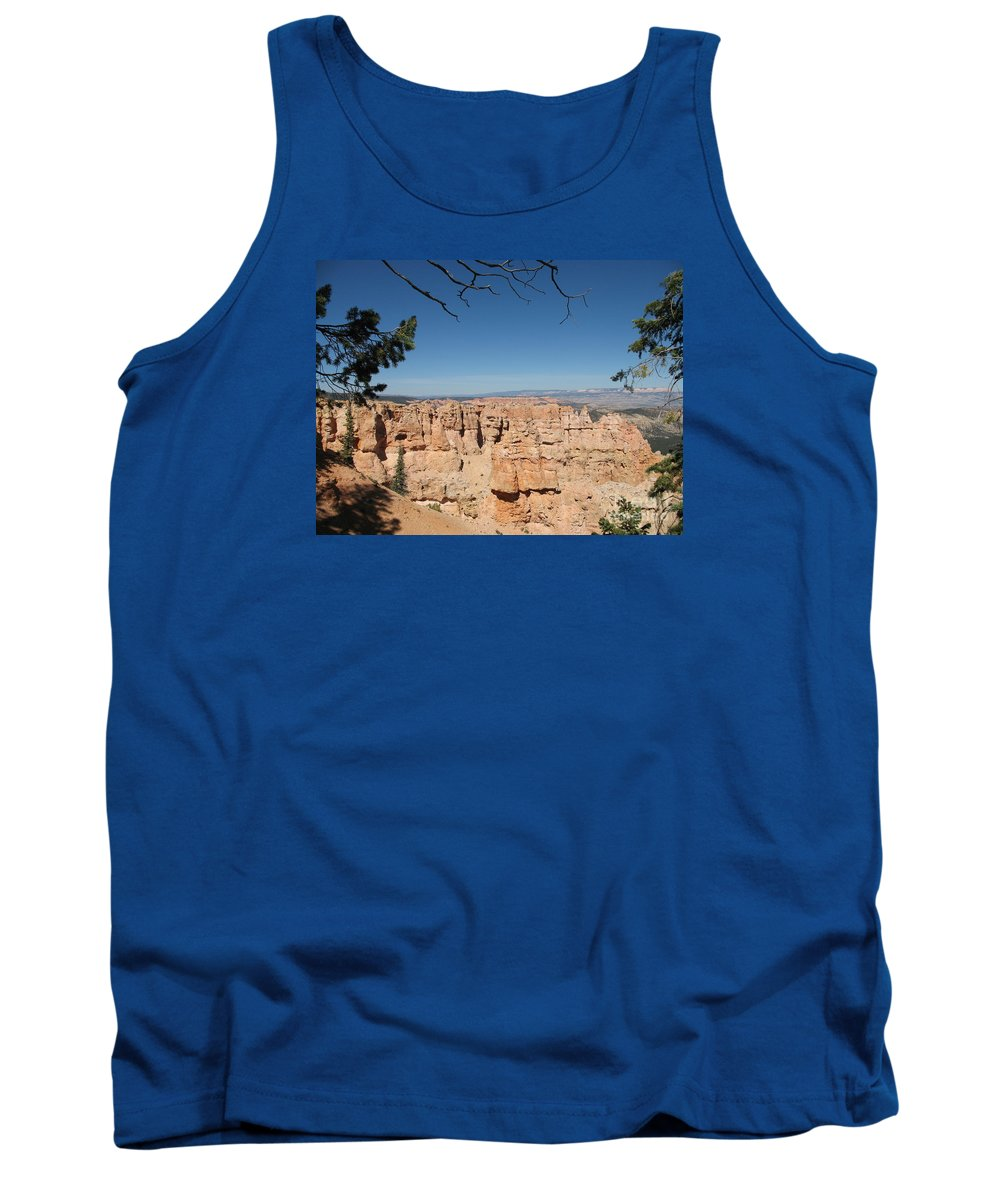 Mountains Tank Top featuring the photograph Viewpoint At Bryce Canyon by Christiane Schulze Art And Photography