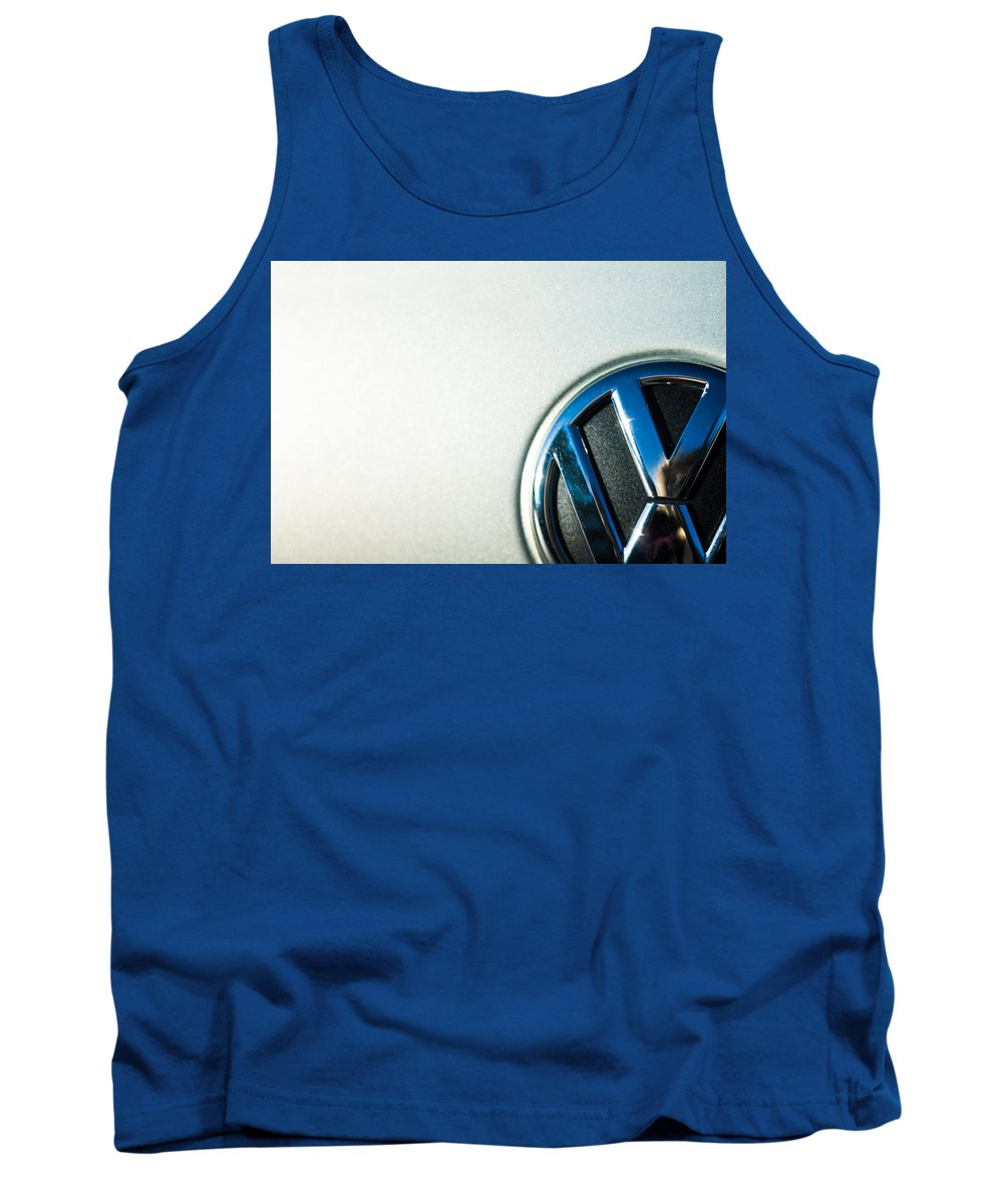 Reflection Tank Top featuring the photograph Vw Logo by Nicole Parks