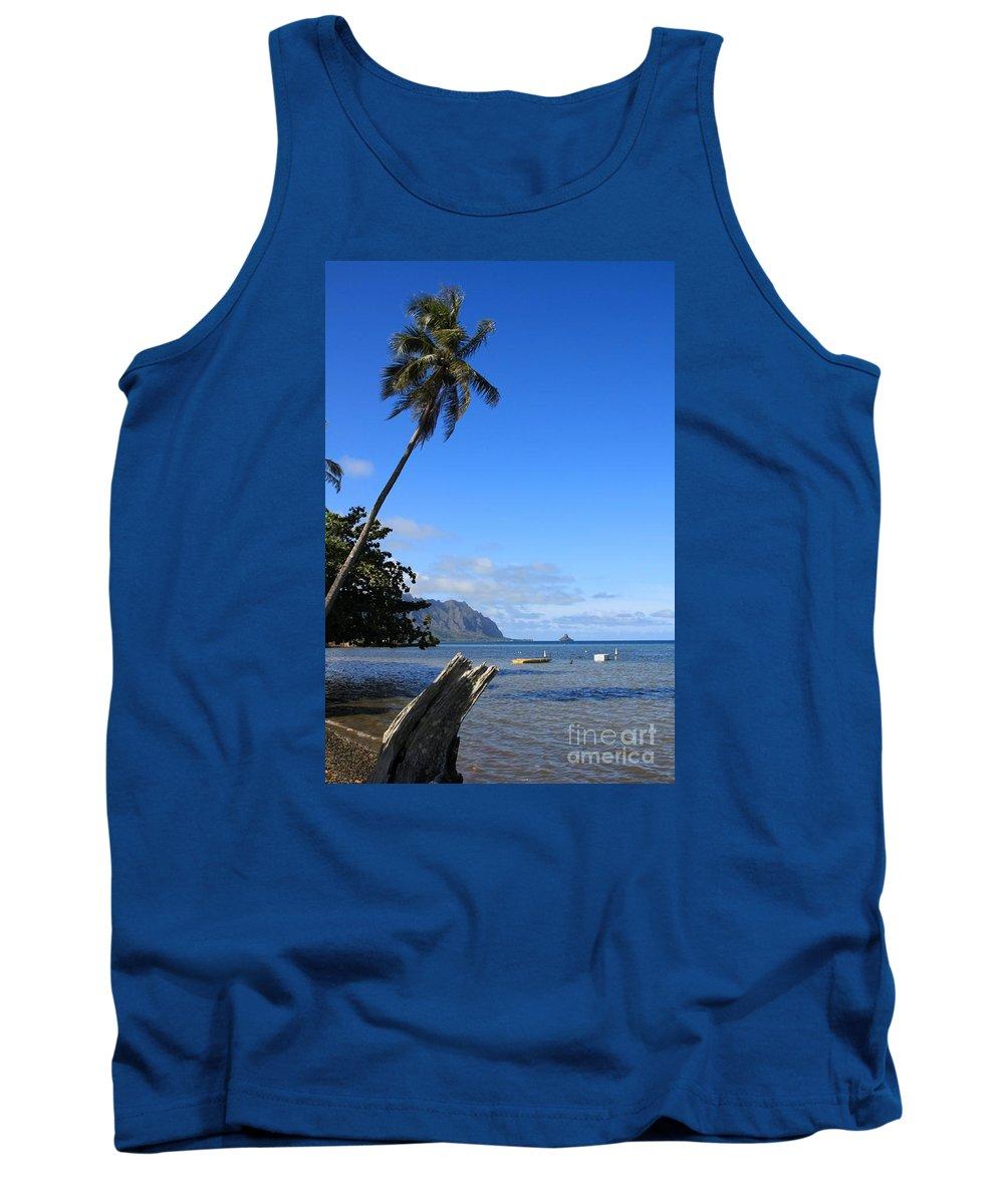 Island Tank Top featuring the photograph Waimanalo Beach by DJ Florek