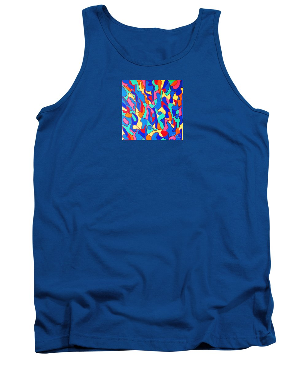 Eunice Broderick Tank Top featuring the painting Walk In Israel by Eunice Broderick