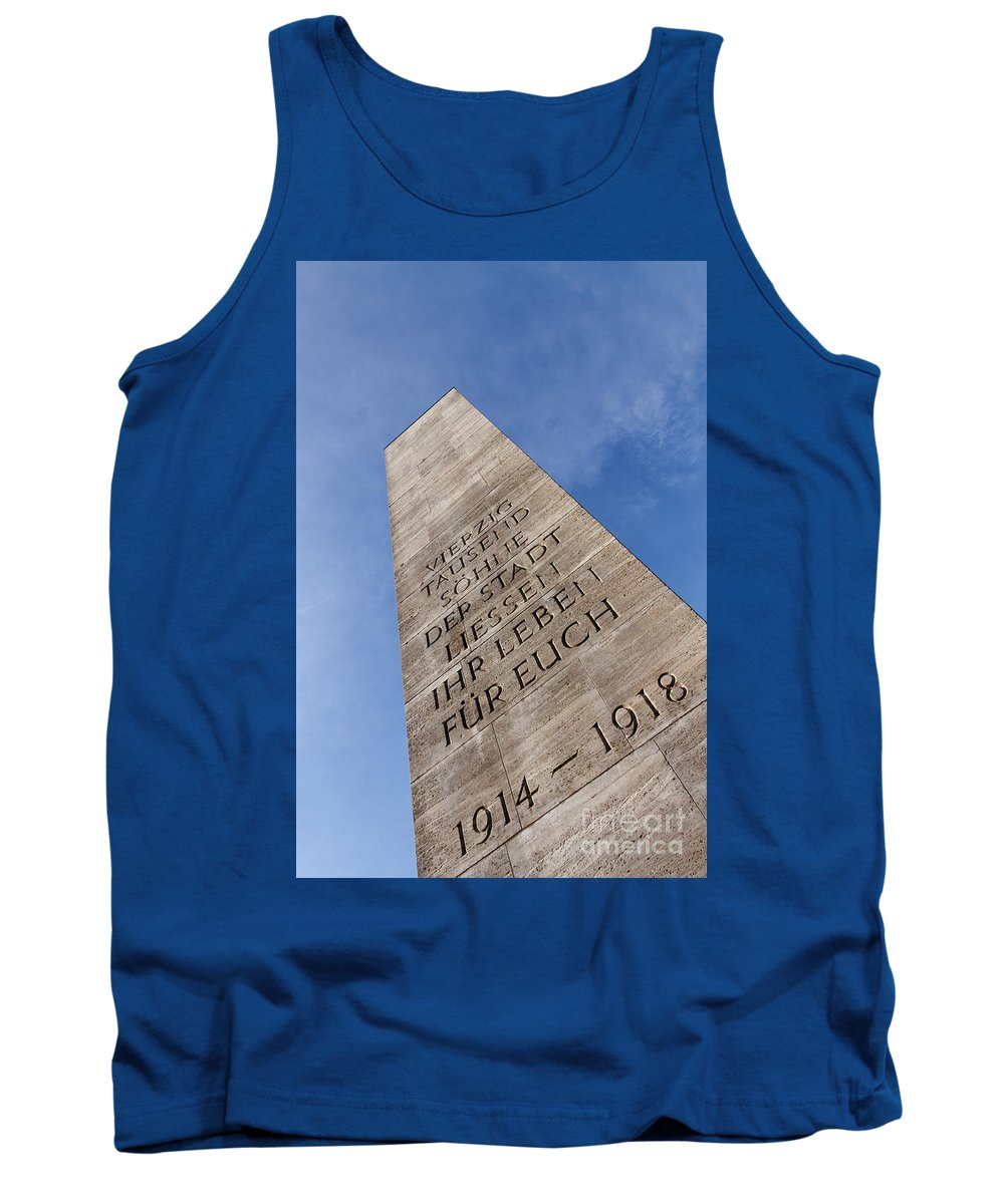 40k Tank Top featuring the photograph War Monument Hamburg by Jannis Werner