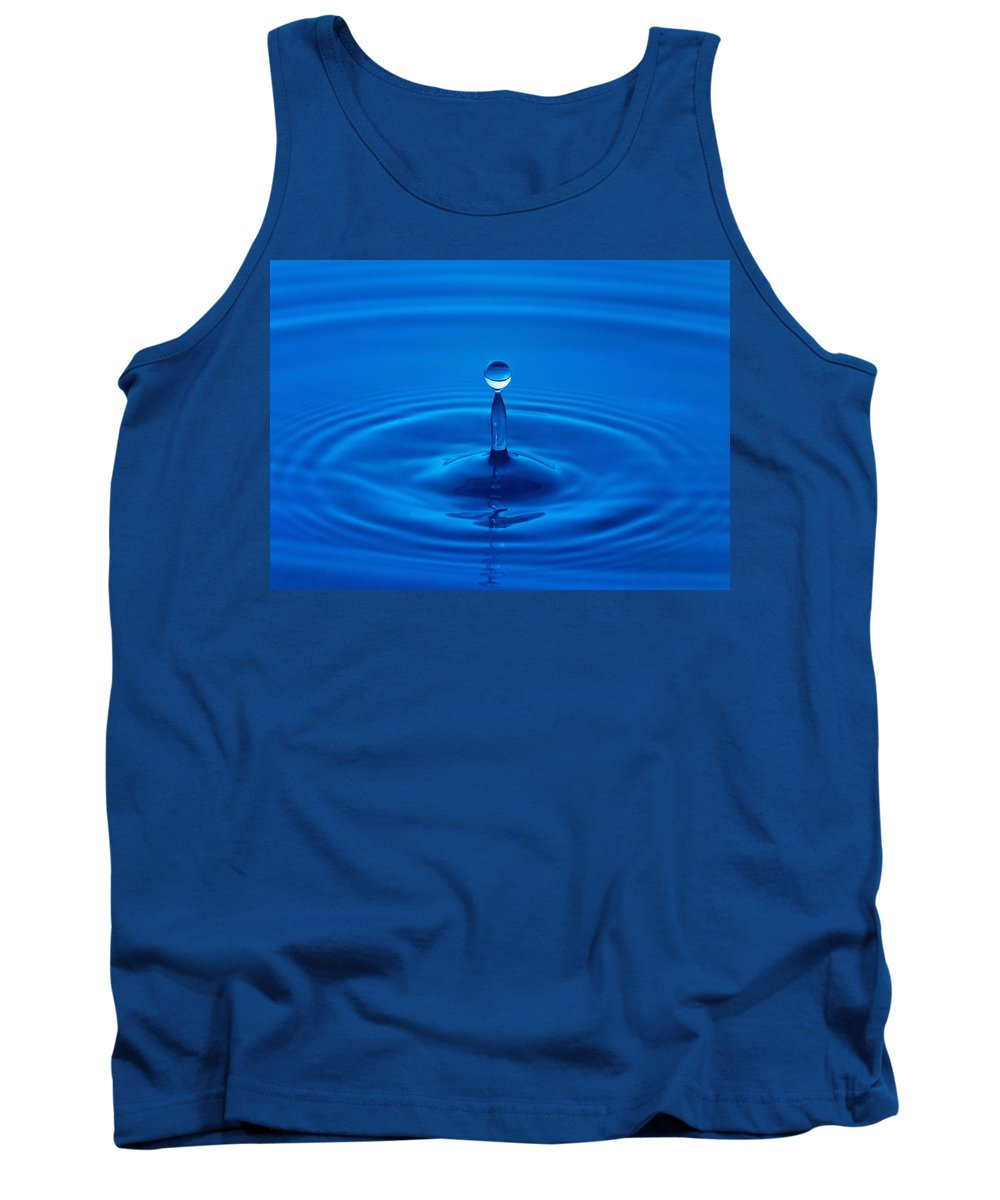 Blue Tank Top featuring the photograph Water Droplet by Karen Shukle