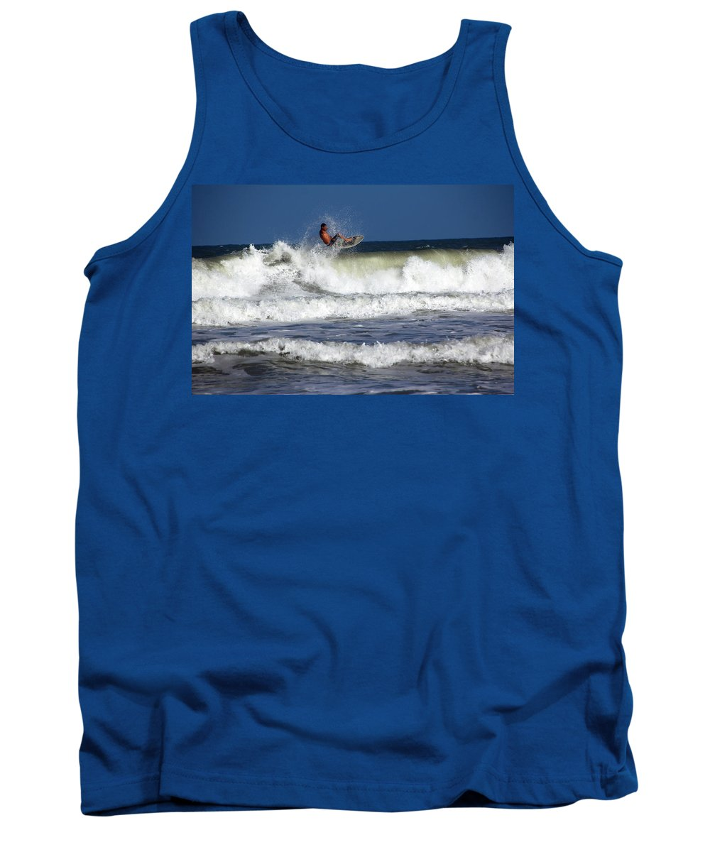 Cocoa Beach Tank Top featuring the photograph Wave Rider by Debbie Oppermann