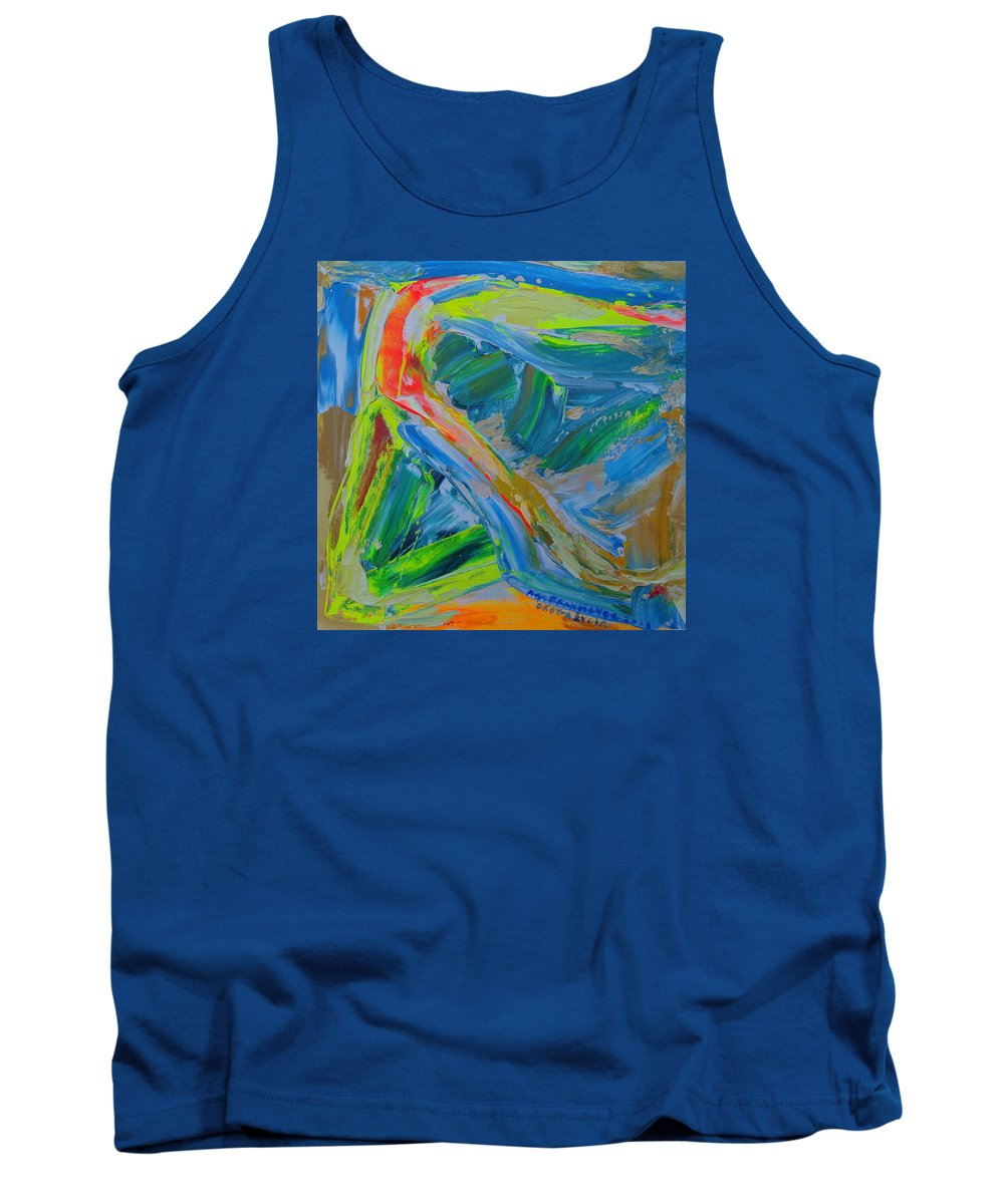 Abstract Painting Tank Top featuring the painting Le Chemin De La Vie by Agnieszka Praxmayer