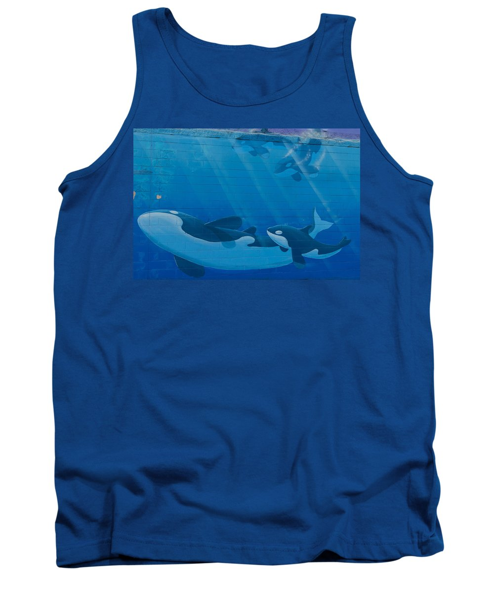 Whales Tank Top featuring the photograph Whales by Brigitte Mueller