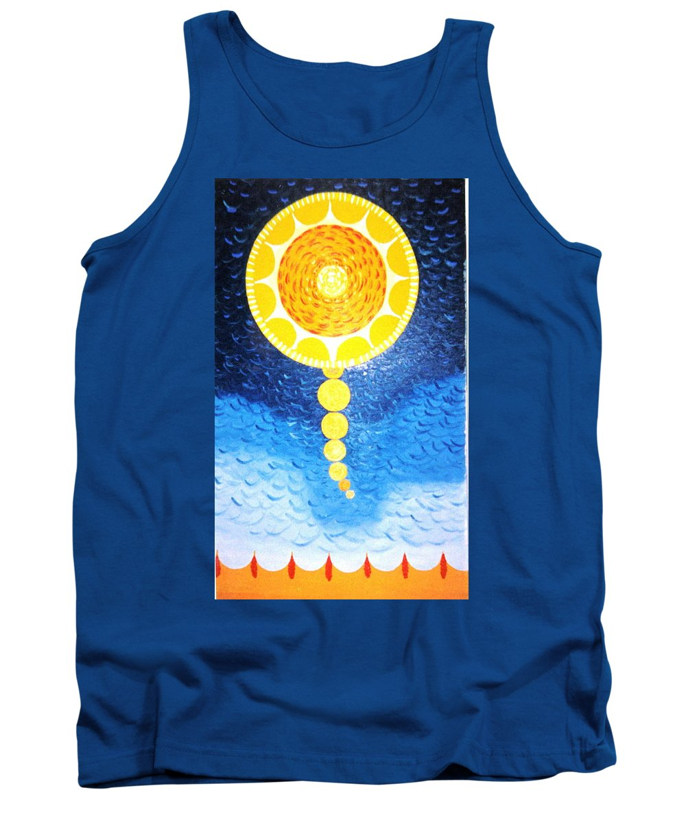 Sky Scape Tank Top featuring the painting Wheat-shire by MERLIN Vernon