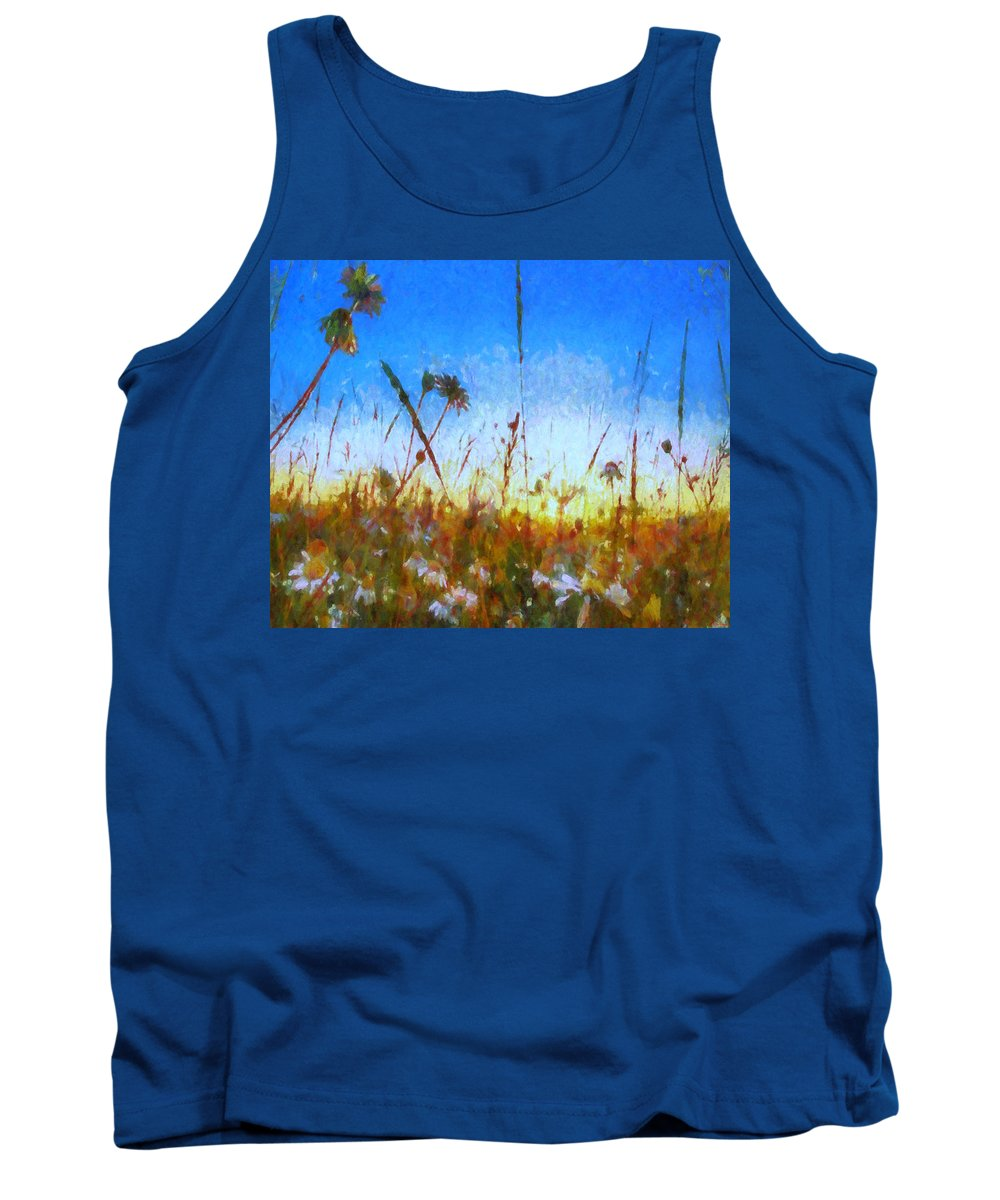 Www.themidnightstreets.net Tank Top featuring the digital art When You Come Home by Joe Misrasi