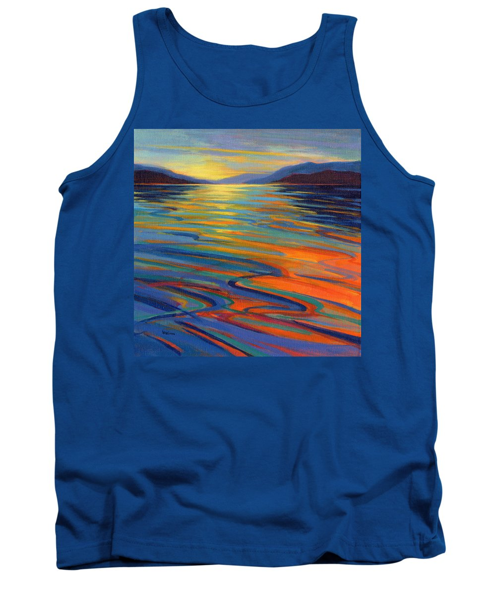 Whales Tank Top featuring the painting Where The Whales Play 8 by Konnie Kim