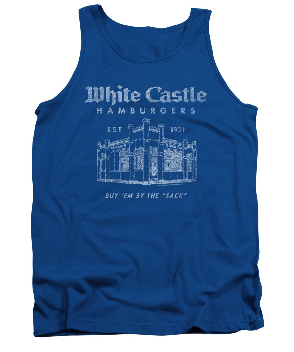White Castle Tank Top featuring the digital art White Castle - By The Sack by Brand A