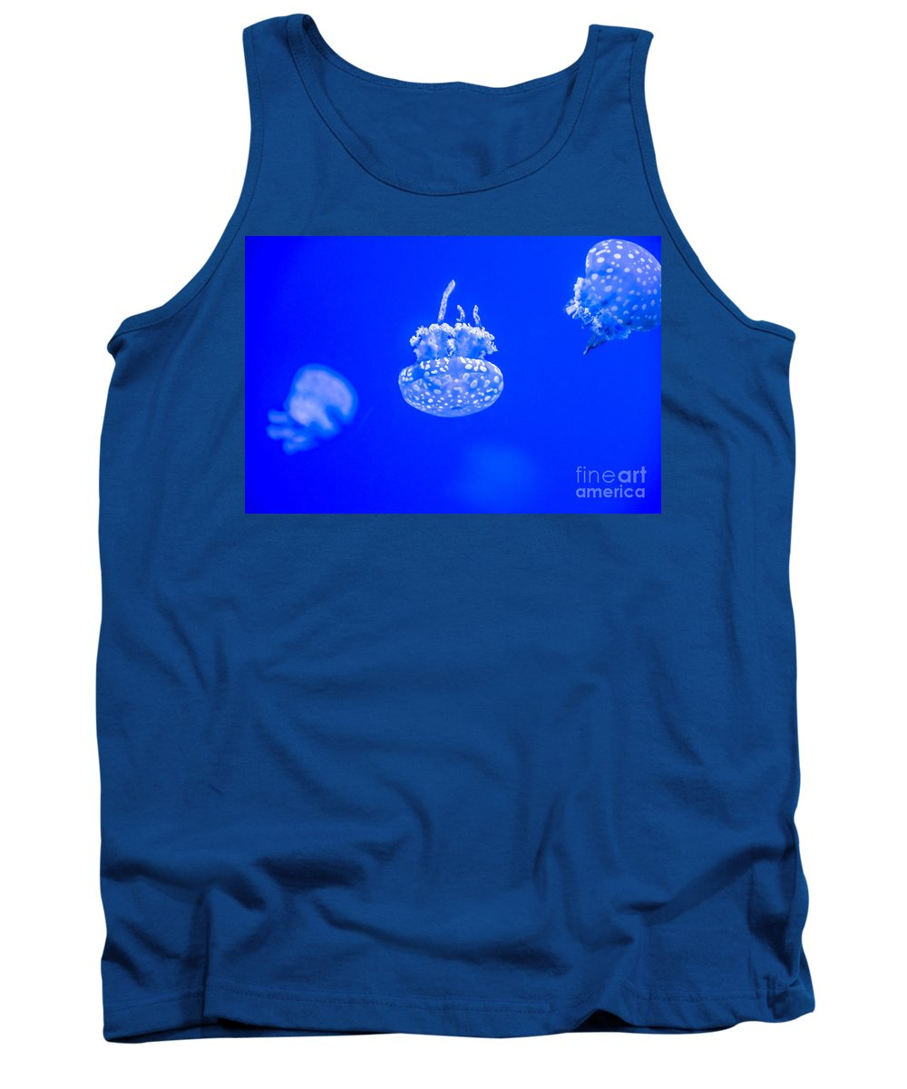 Salt Water Tank Top featuring the photograph White Jelly Fish by Cheryl Baxter