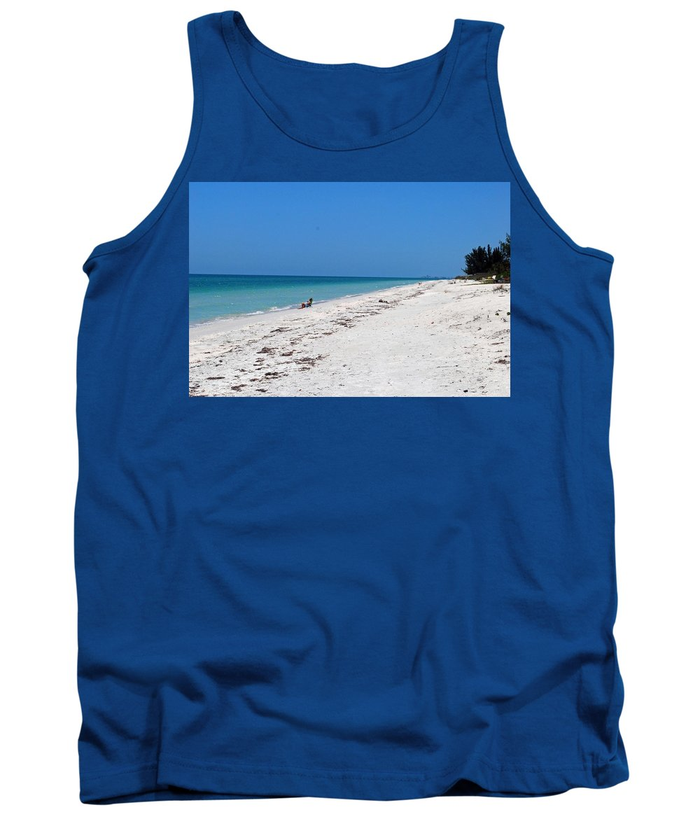 Florida Tank Top featuring the photograph White Sandy Beach by Gary Wonning