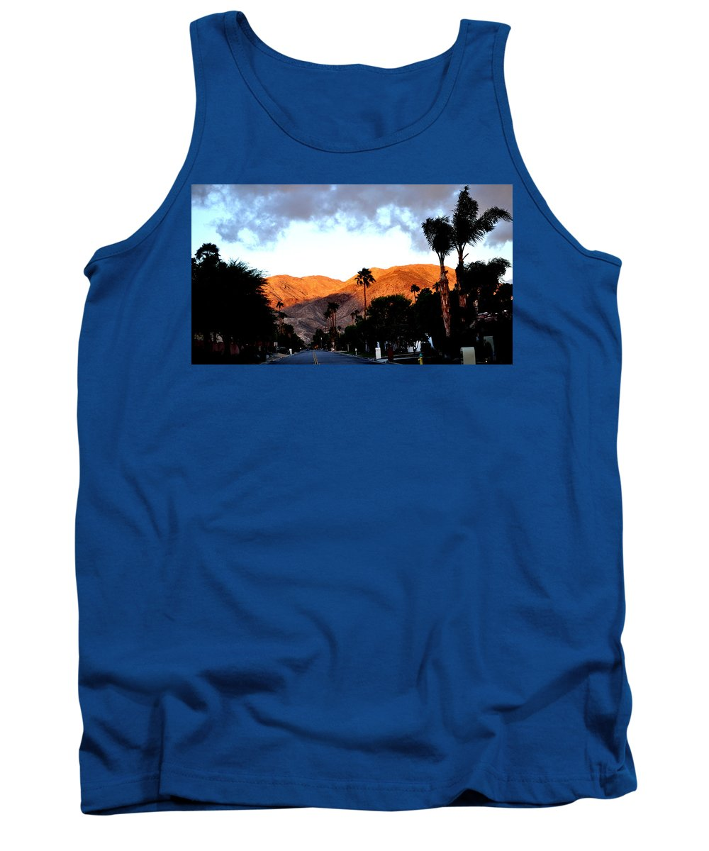 Cloudy Sky Tank Top featuring the photograph Wind-sun But No Rain by Jay Milo