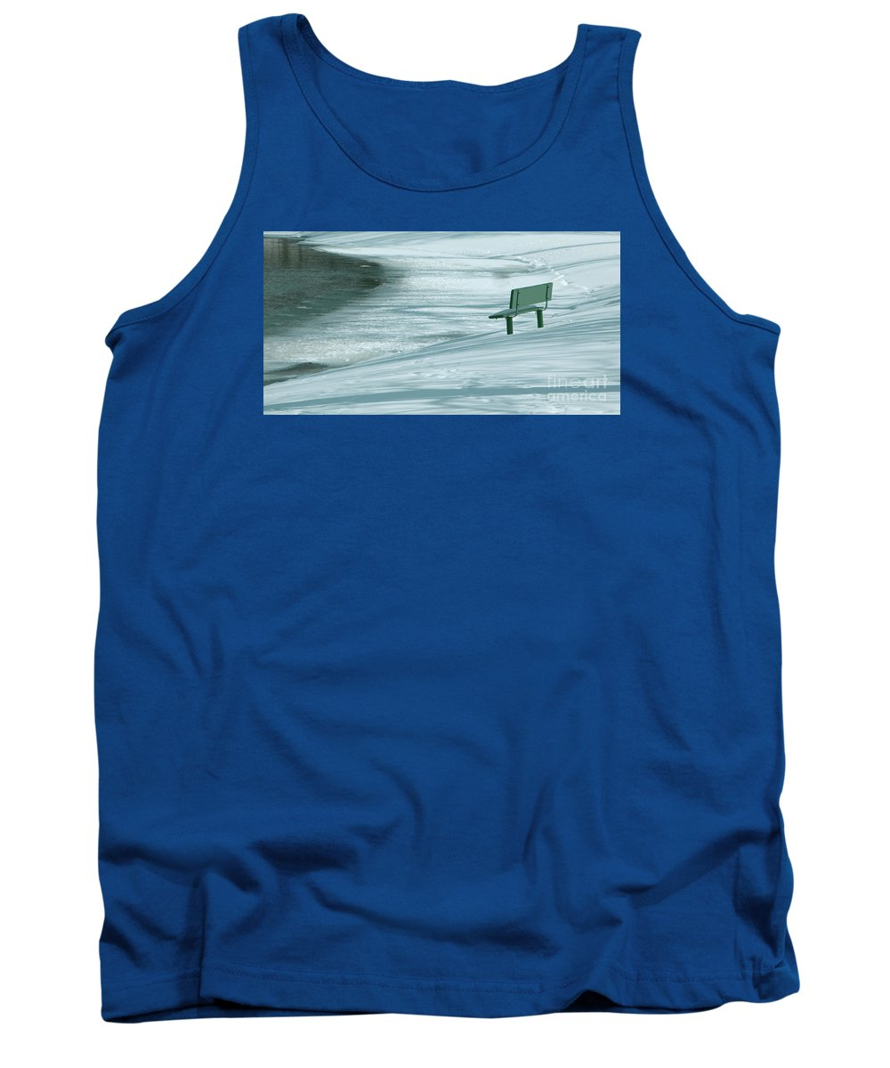 Winter Tank Top featuring the photograph Wintry Riverside by Ann Horn