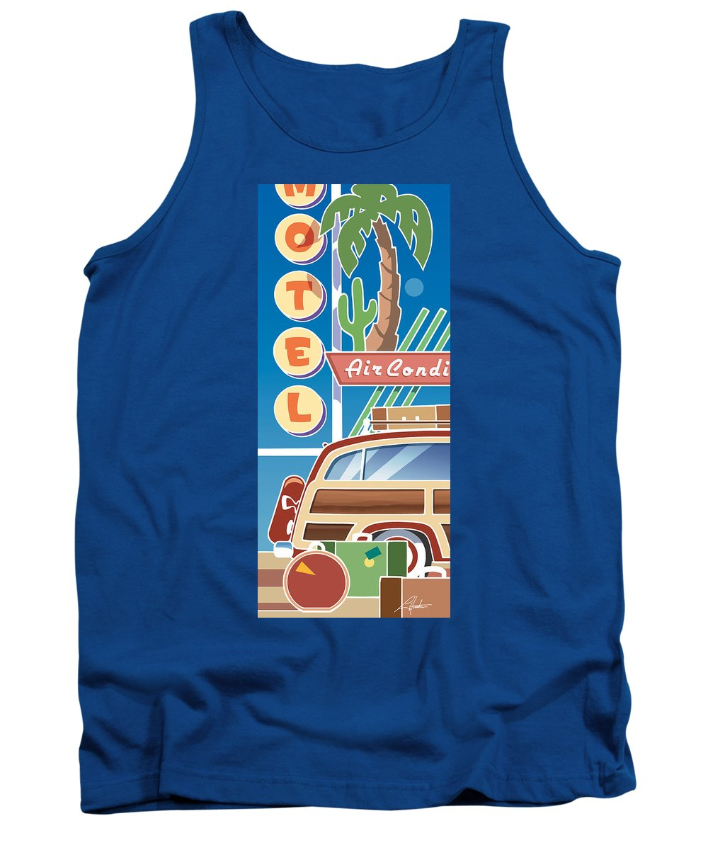 Mid Century Tank Top featuring the digital art Woody by Larry Hunter