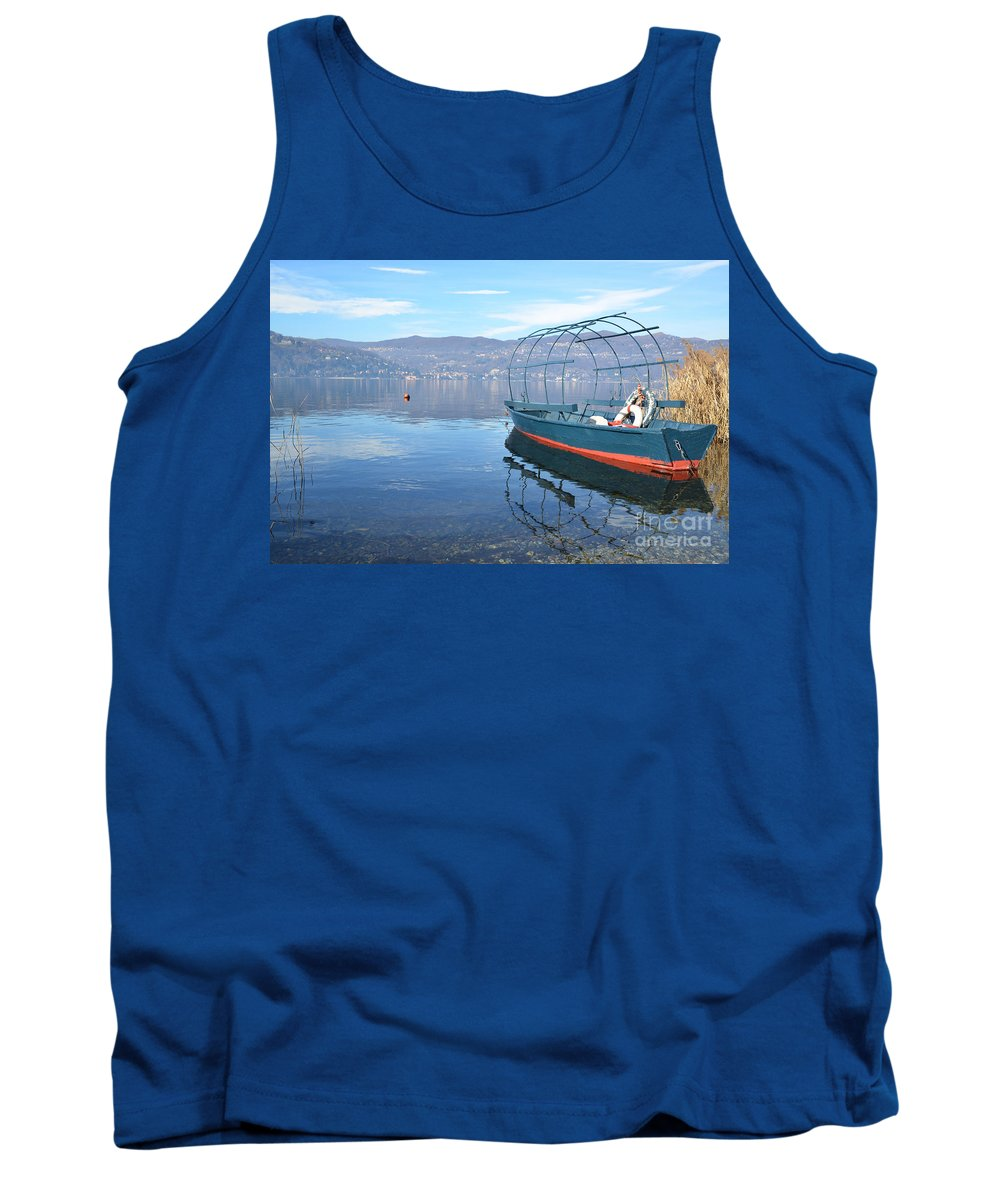 Fishing Tank Top featuring the photograph Old Fishing Boat by Mats Silvan