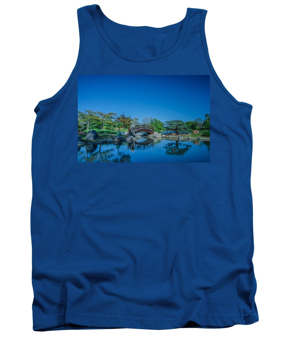 Landscape Tank Top featuring the photograph Osaka Garden Pond by Jonah Anderson