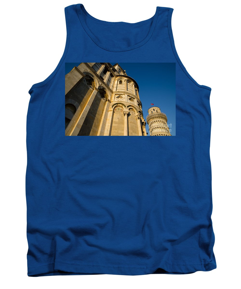 Pisa Tank Top featuring the photograph Pisa Tower And Cathedral by Mats Silvan