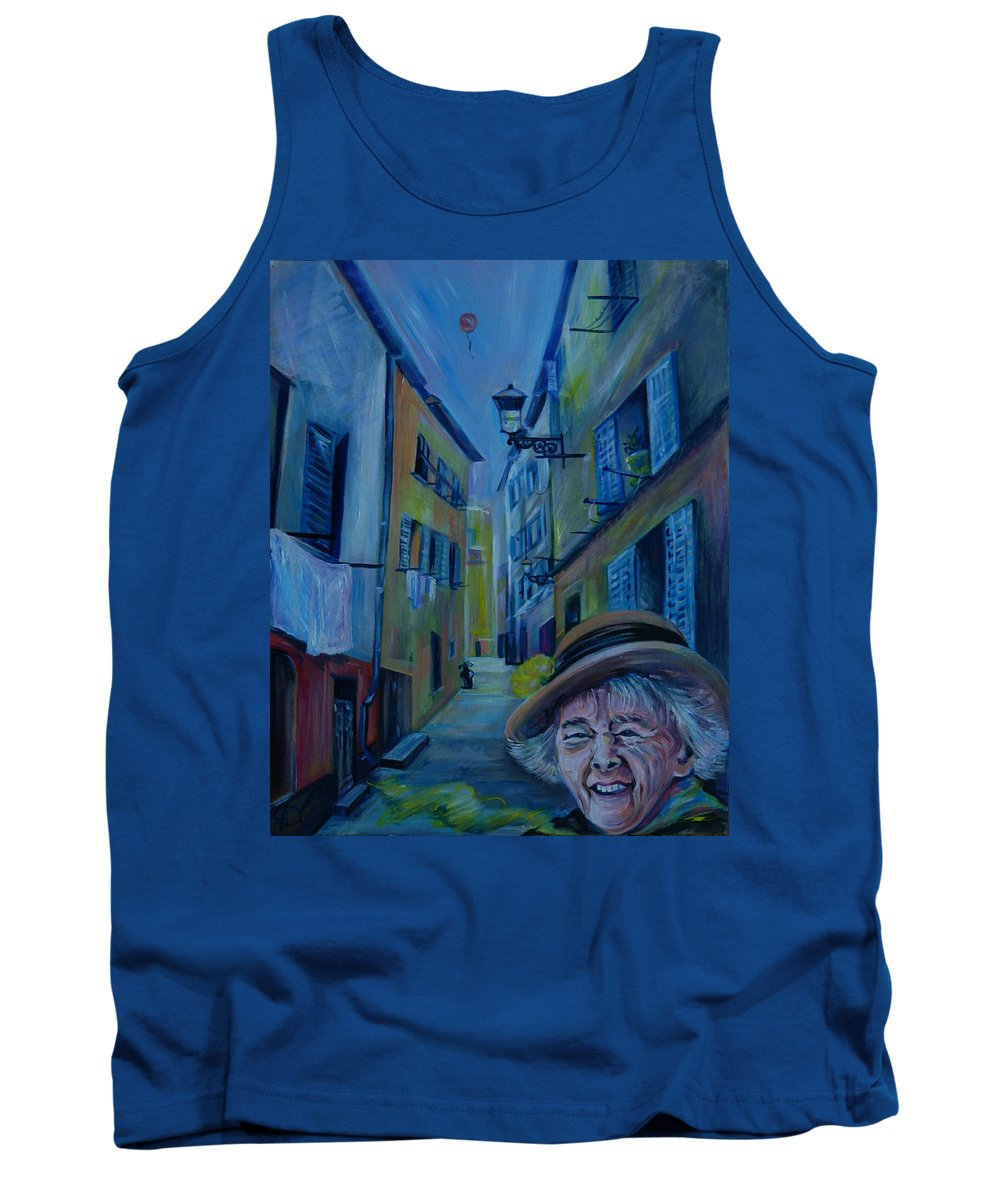 Travel Tank Top featuring the painting Travel Notebook. Old Nice by Anna Duyunova