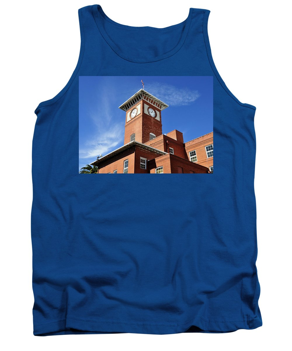 Fine Art Photography Tank Top featuring the photograph 1910 Cigar Factory by David Lee Thompson