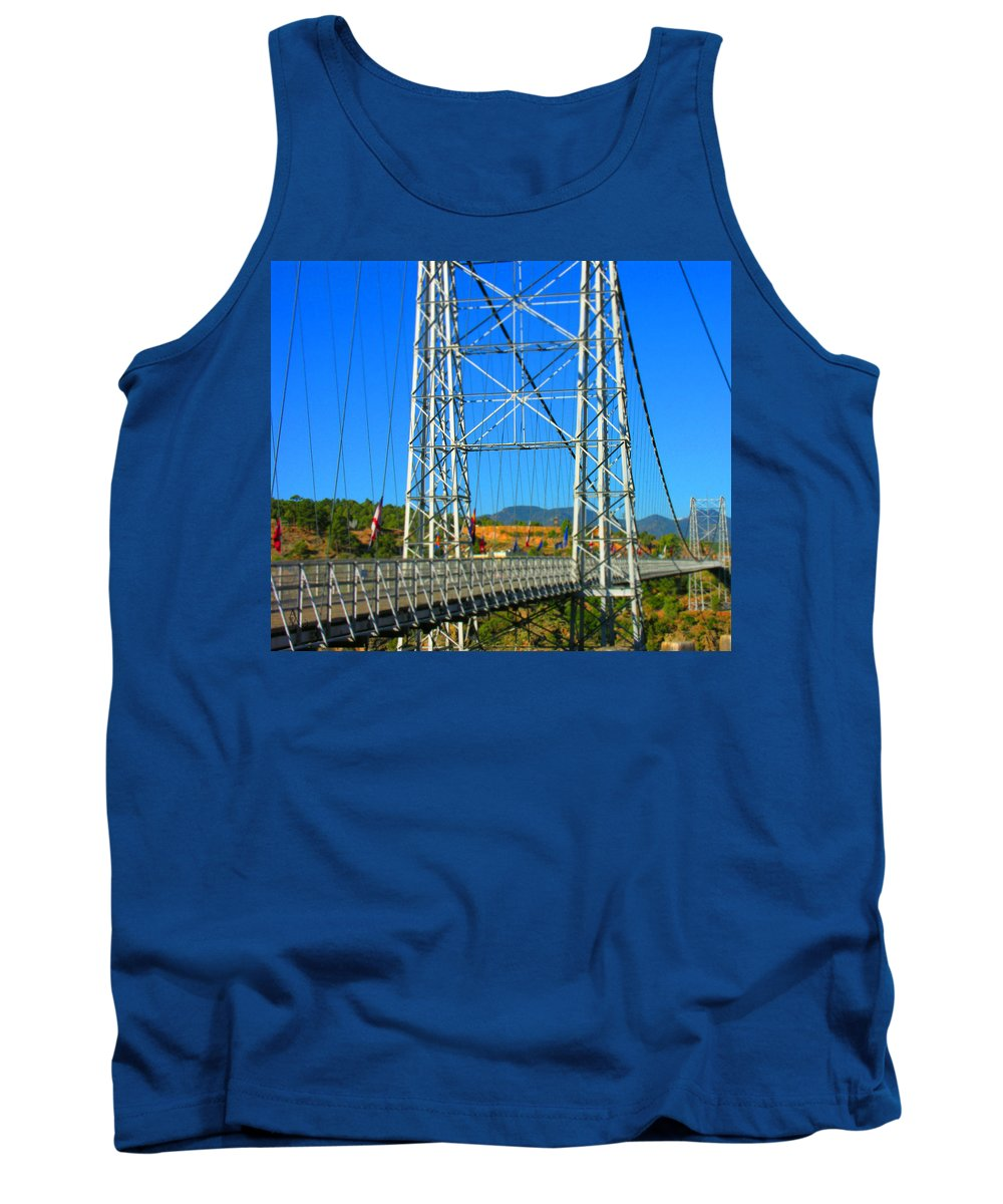 Bridge Tank Top featuring the photograph Untitled by Adam Vance