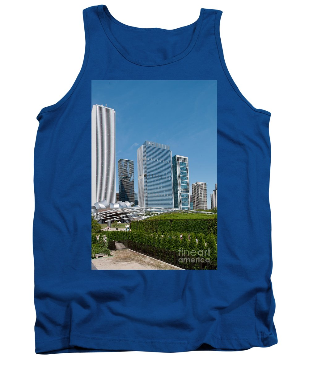 Chicago Tank Top featuring the digital art Chicago City Scenes by Carol Ailles