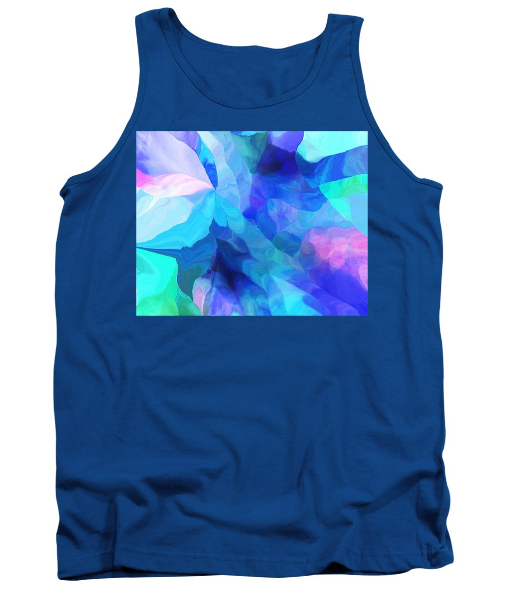 Fine Art Tank Top featuring the digital art Abstract In Blues 052612 by David Lane