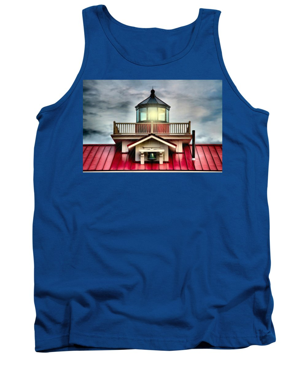 Lighthouse Tank Top featuring the photograph Abundance Of Light by Nadine Lewis
