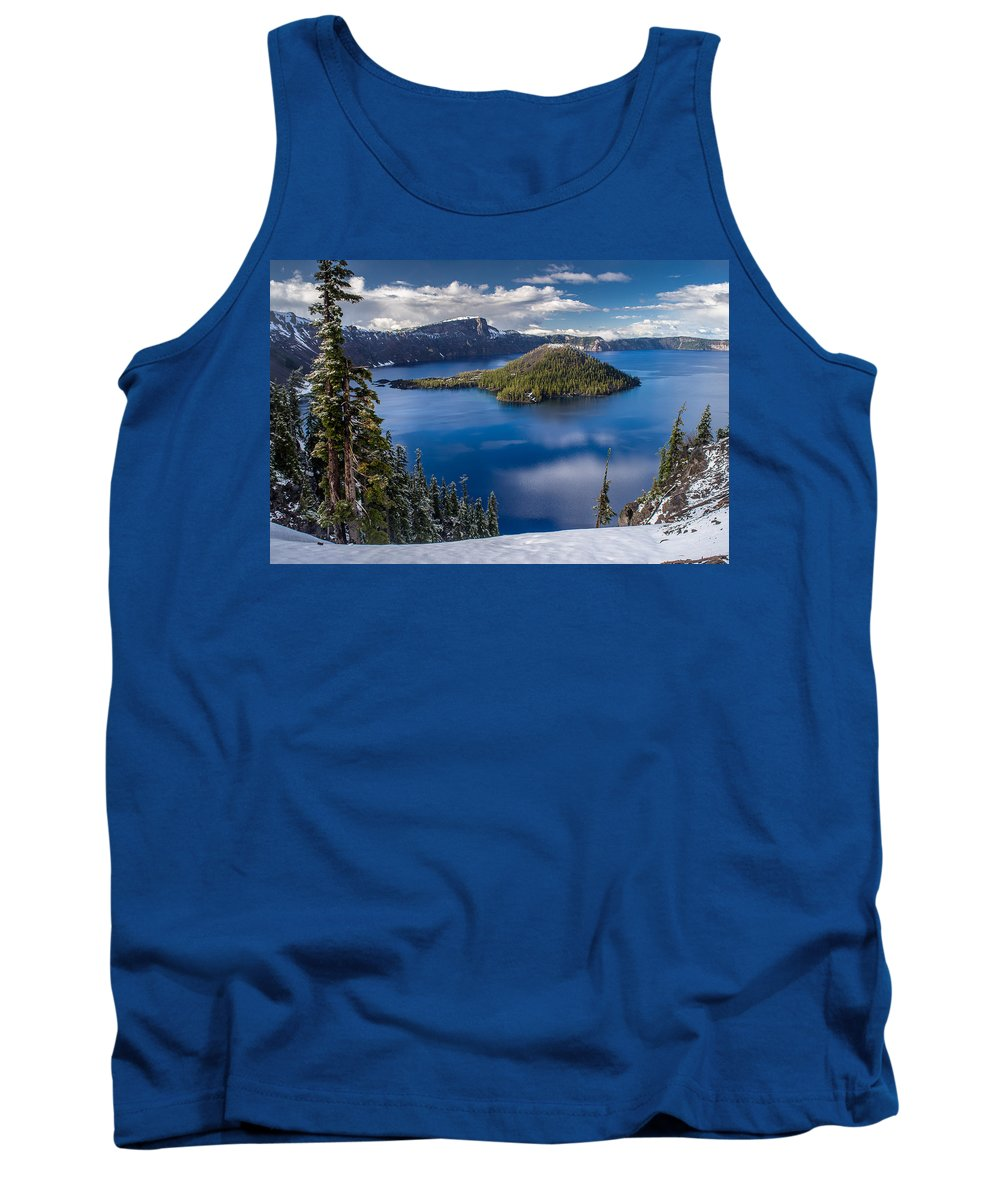 Crater Lake Tank Top featuring the photograph Afternoon Clearing At Crater Lake by Greg Nyquist