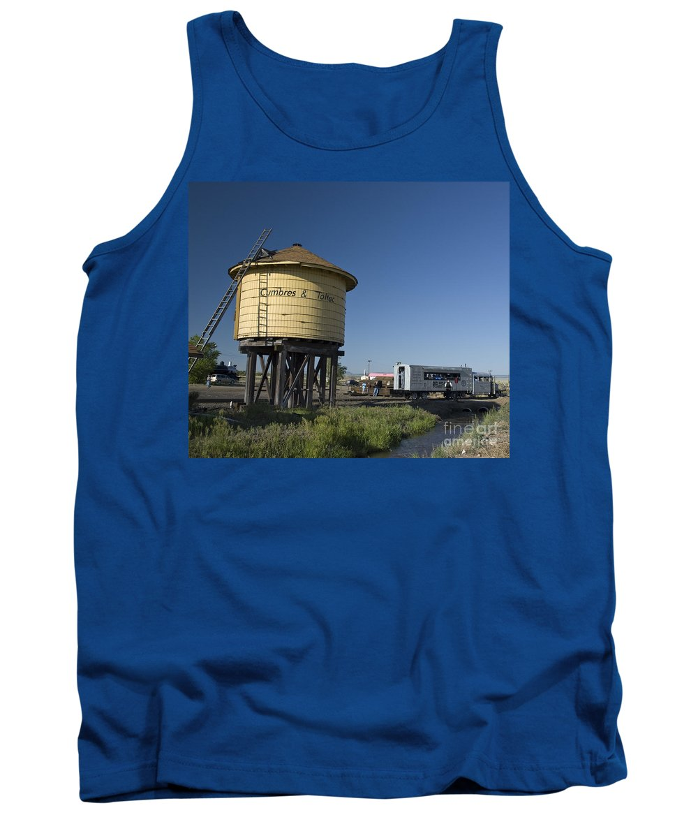 Cumbres & Toltec Tank Top featuring the photograph Antonito Goose by Tim Mulina