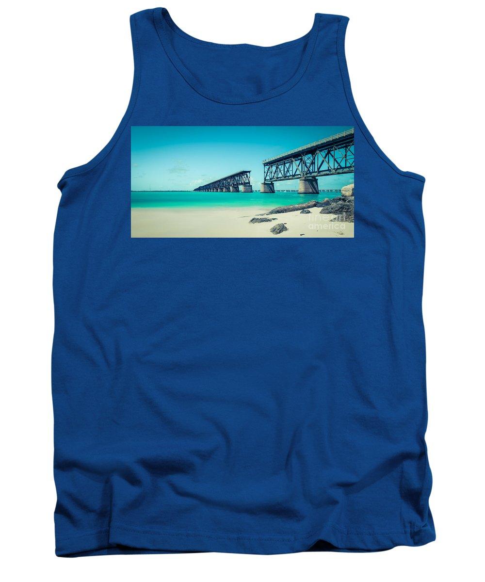Atlantic Tank Top featuring the photograph Bahia Hondas Railroad Bridge by Hannes Cmarits