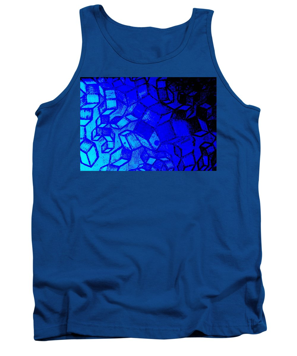 Etching Tank Top featuring the photograph Blue Zinc by Chris Berry