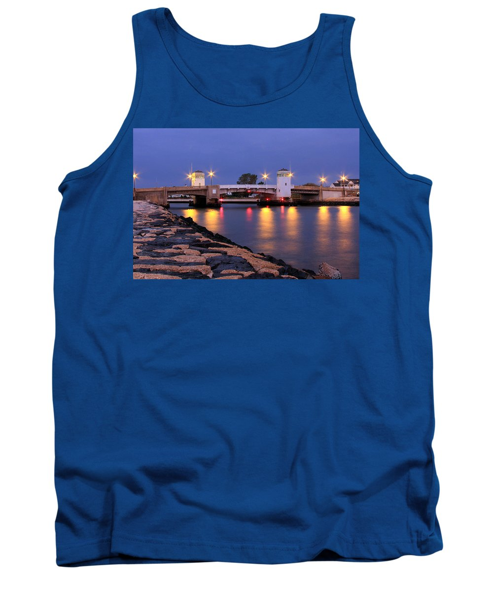 Belmar Tank Top featuring the photograph Bridge In The Jetty by Jeff Bord