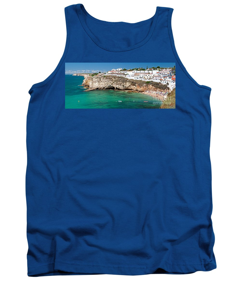 Seaside Tank Top featuring the photograph Carvoeiro Panorama by Jim Chamberlain
