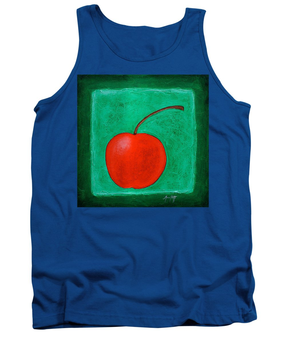 Art Tank Top featuring the painting Cherry by Mauro Celotti